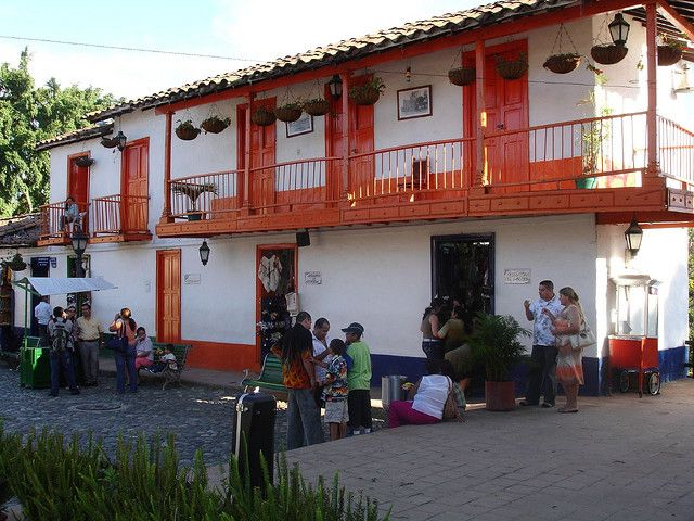 Pueblito Paisa, Medellín, Colombia: This is how the houses were during the colonial times in Colombia #colombia #house