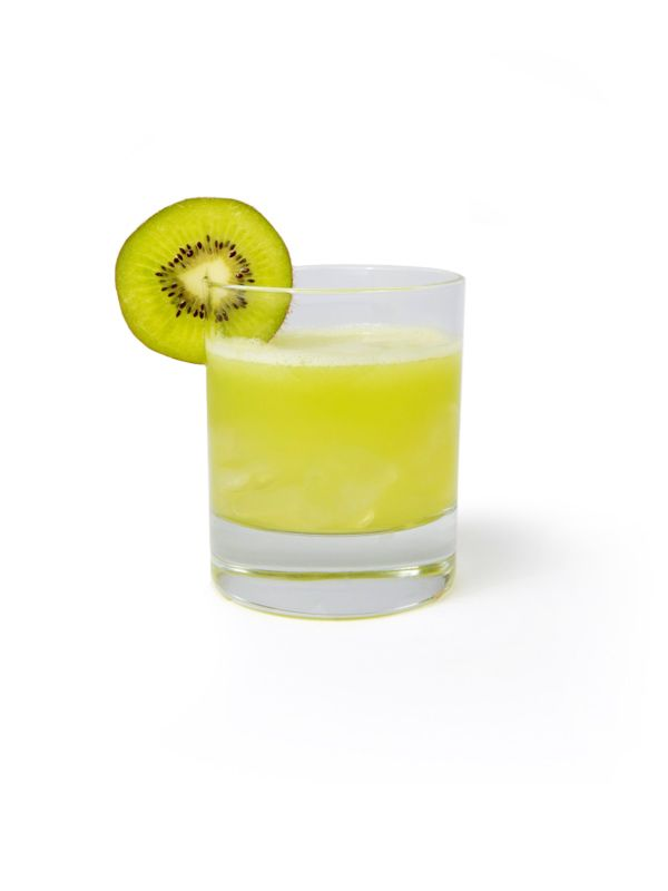 Lime Ricky - 1 kiwi - ¾ oz lime juice - ¾ oz simple syrup - 1½ oz Snowfox  Muddle 1 whole kiwi. In a shaker add kiwi, lime juice, ice, simple syrup and Snowfox. Shake well and strain over ice in a rocks glass.  (Optional) Add 1 dash bitter