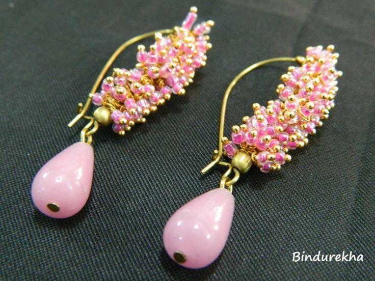 Bindurekha / Pink Ghungroo Earrings