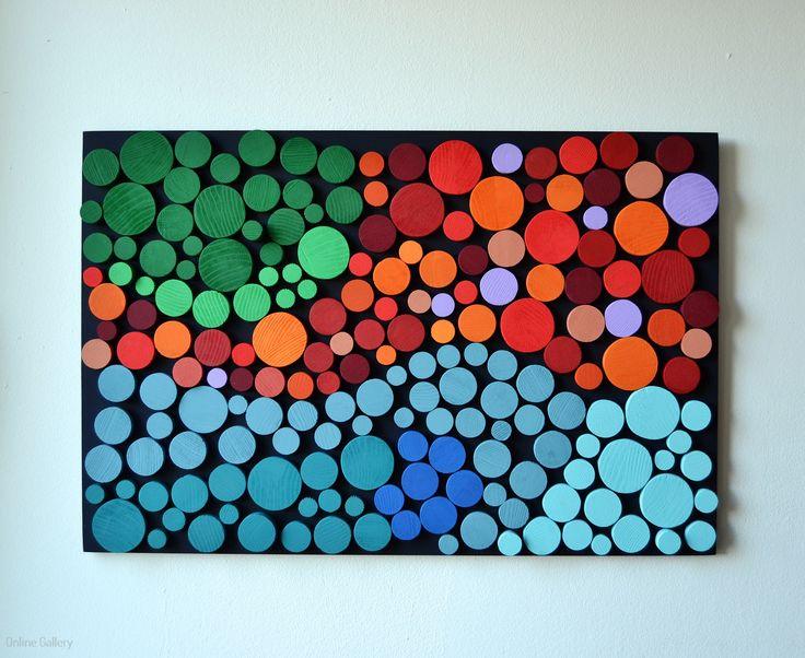 Peisaj abstract - arta moderna din lemn