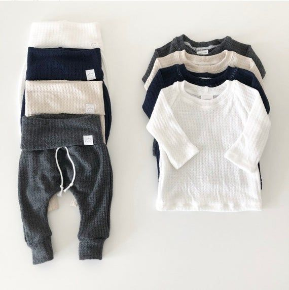 Charcoal Gray Waffle Outfit Baby Boy Clothes Gender Neutral Baby Clothes Take Home Outfit Softest Wearable Baby Clothes Gender Neutral Baby Clothes Cute Baby Clothes Baby Clothes
