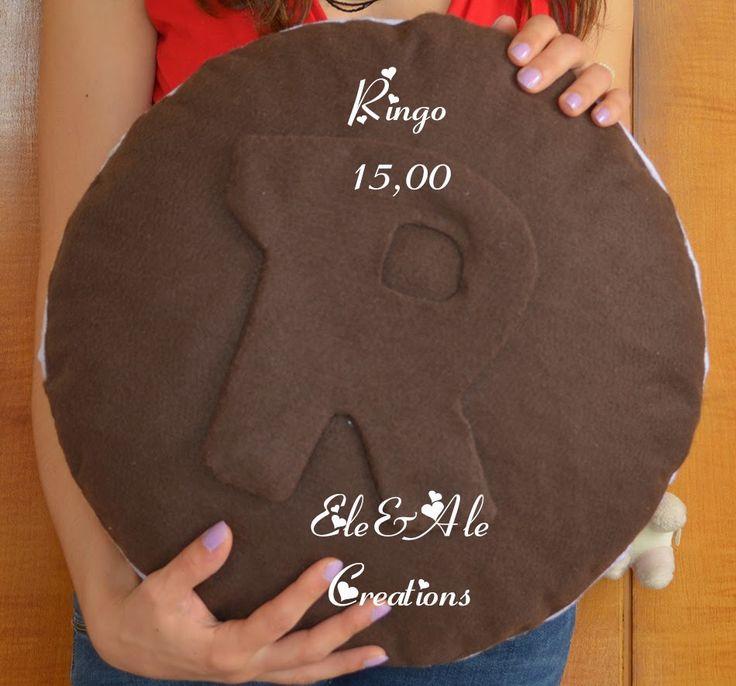 Cuscino Biscotto a forma di Ringo! Interamente re...