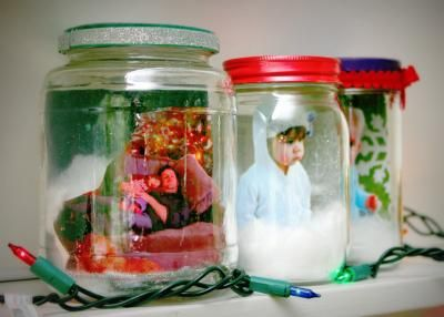 DIY Photo Snow Globes | Parenting