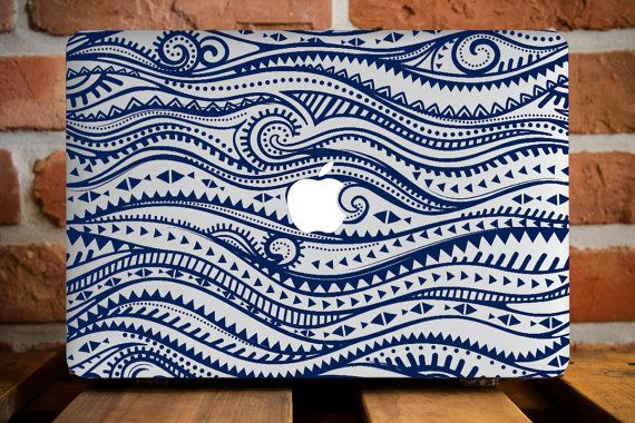 Blue Henna Waves MacBook Air Cover MacBook by CreativeMacBookCases