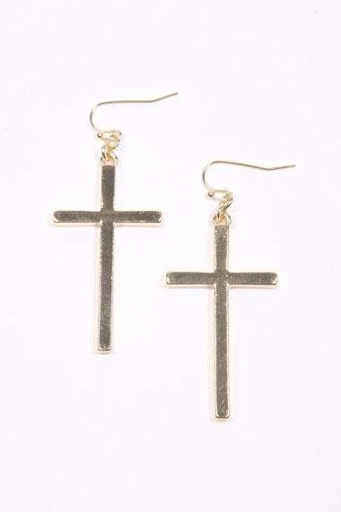 Hanging Cross Earrings UO