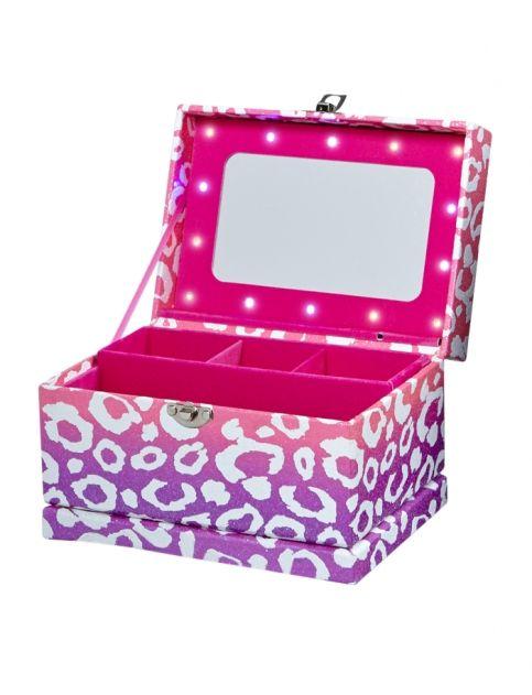 cheetah light up jewelry box justice my closet