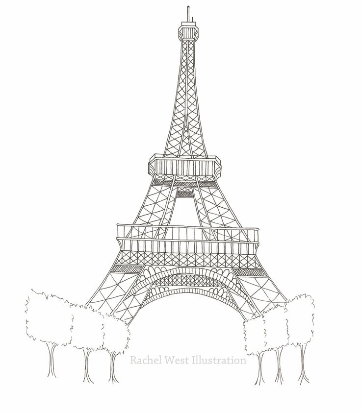 Printable Eiffel Tower Coloring Pages Free