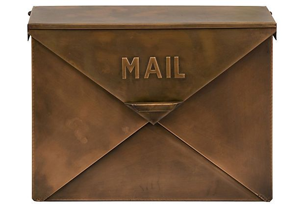Mailbox, Copper Finish on OneKingsLane.com