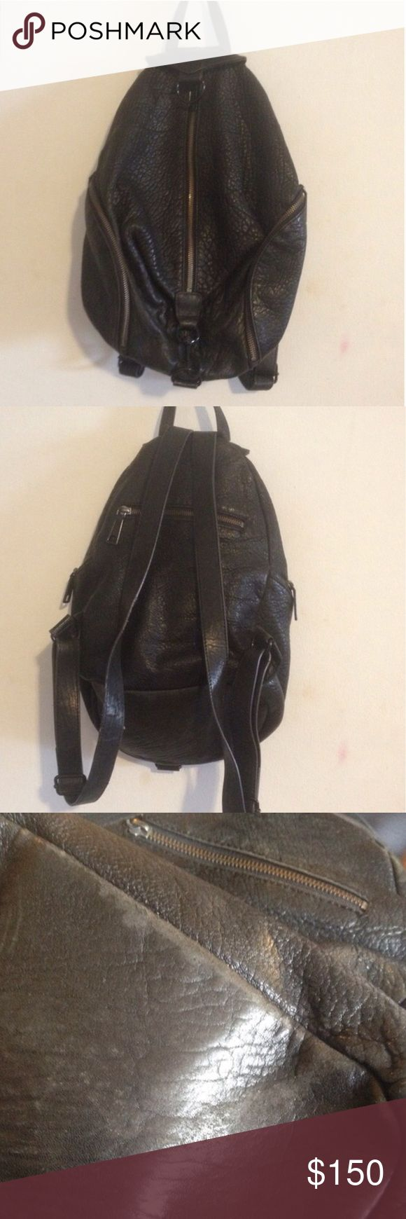 REBECCA MINKOFF JULIAN Backpack Pre-loved but plenty of life left in this beauty, I LOVE her but I just don't reach for her as much anymore.  Give her a good home 💜 Some wear to leather ( I honestly love the worn leather feel, it's so soft!) The interior is still gorgeous (see last image)  if you'd like more photos, just ask 😊 🚫Sorry, NO TRADES🚫 Rebecca Minkoff Bags Backpacks