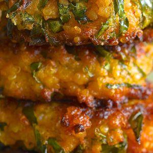 Sweet Potato Kale and Quinoa Fritters