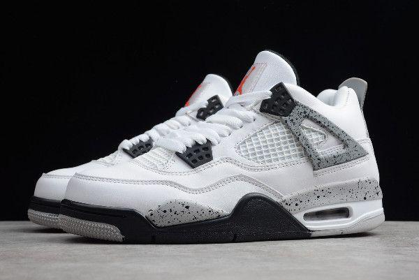 "Torpe oro Pino  Air Jordan 4 Retro ""White Cement Grey"" For Sale   Air jordans, Jordans, Jordan  4"