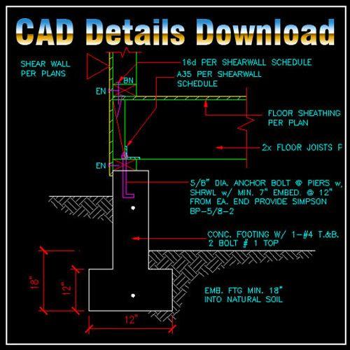 Construction Details 】★ Cad Library Autocad Blocks