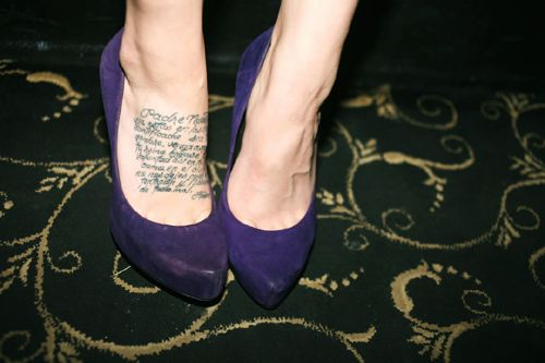 Tattoo inspiration - text on instep