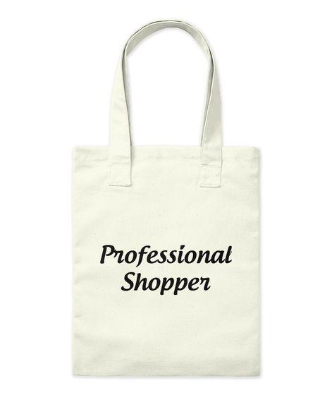 Professional  Shopper Natural Tote Bag Front