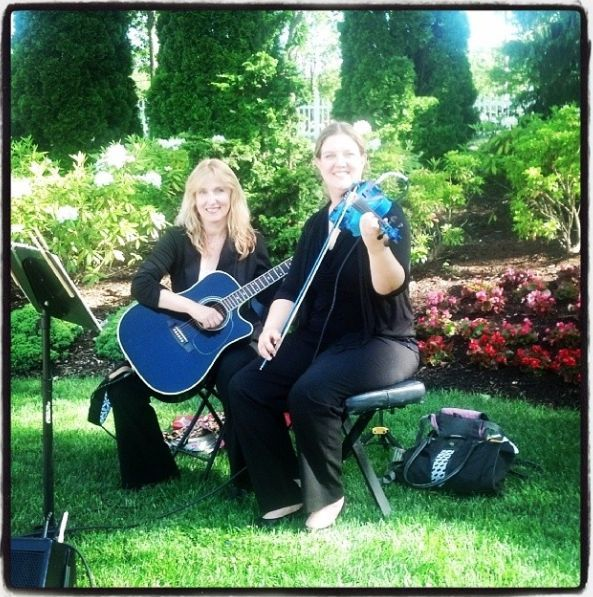 Violin Catherine Boyd And Guitar Susan Salmon Duo For A Wedding Ceremony