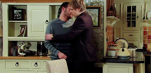 """The Hug"" ~ Aaron and Robert Emmerdale"