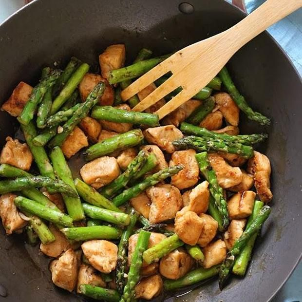 Chicken And Asparagus Lemon Stir Fry Recipe main-dish, sides, dairy free, low carb, nut free, sugar free, chinese new year, valentines day, dinner, asian, chinese with 12 ingredients Recommended by 2 users.