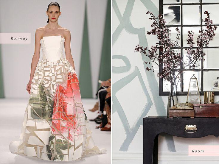© Carolina Herrera / The Hunted Interior Carolina Herrera Spring 2015 Runway   Home of Kristin Jackson, The Hunted Interior Interior Design Inspired by Spring 2015 Fashion Trends - Condé Nast Traveler