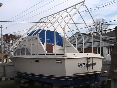 Any Pix Of Boat Cover Supports Dual Console The Hull Truth Boating And Fishing Forum