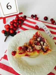 This Cranberry Orange Custard Pie is delicious and great to serve at Christmas!
