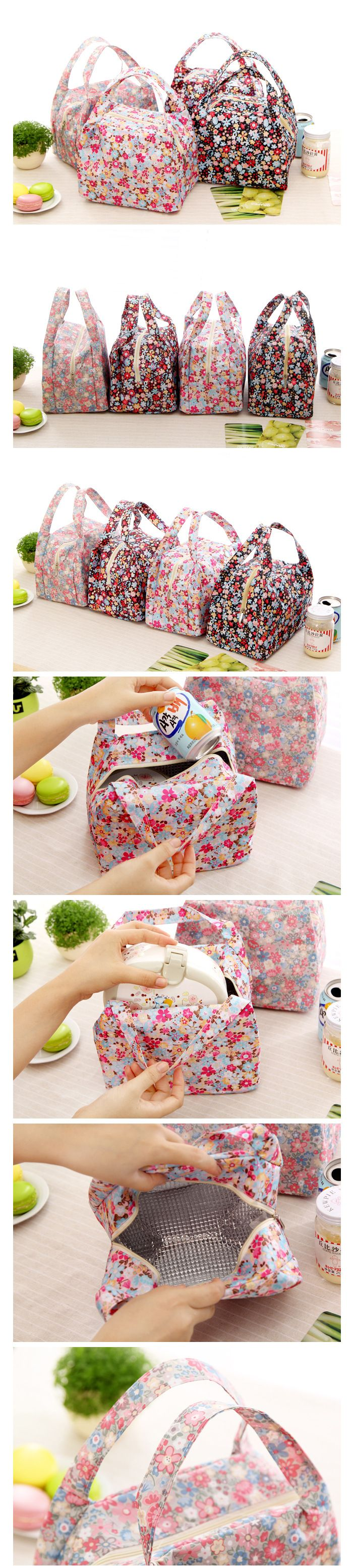 floral lunch bags
