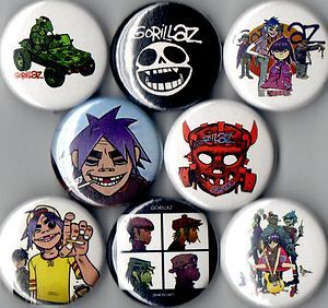 Gorillaz 8 Pins Buttons Badges Plastic Beach Demon Days | eBay