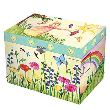 $55 Open the lid of this gorgeous children's music box by Enchantmints to see the pixie dance to the tune of Funiculi Funicula.  A magical place to...