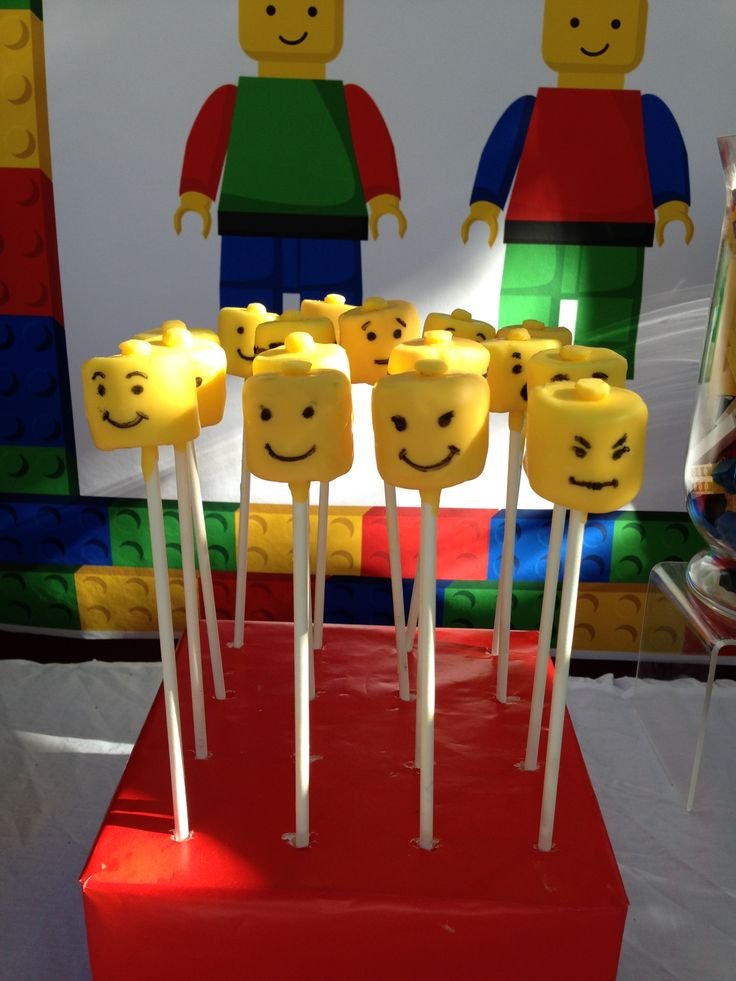 39 best yummylicious cake design creations images on pinterest lego head marshmallow pops by me yummylicious cake design pronofoot35fo Images