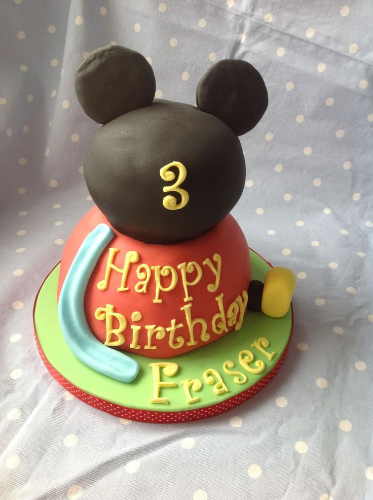 Mickie Mouse Club House Birthday Cake