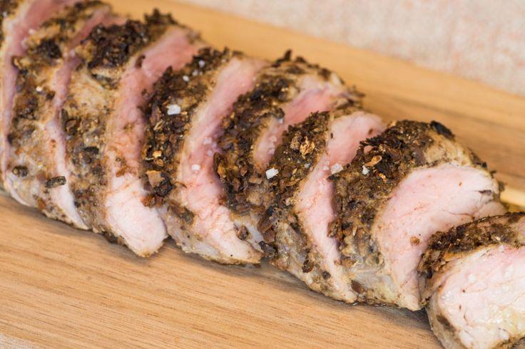 Porcini-Crusted Pork Tenderloin