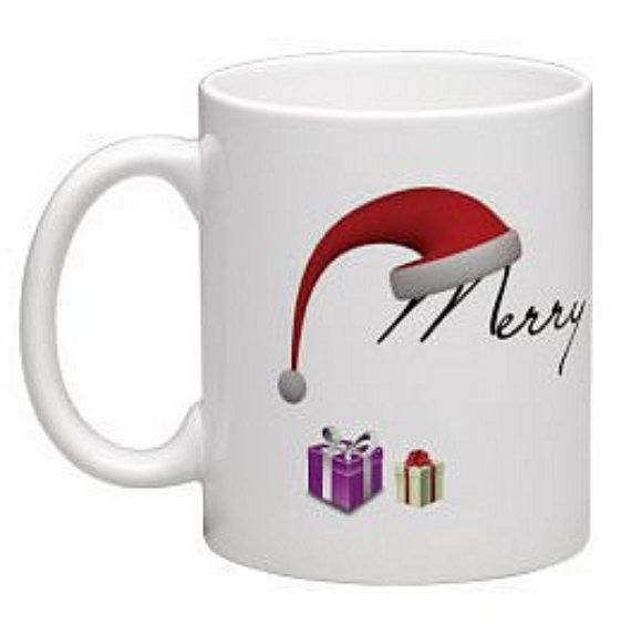 Merry Christmas Mug Christmas mug Colleague gift by BeesMugShop
