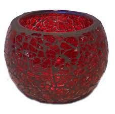 red mosaic candle holder - Google Search
