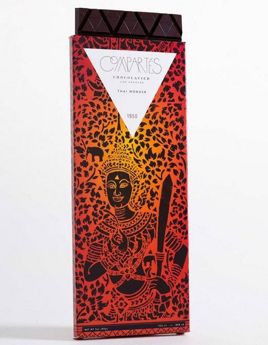 跟着巧克力环游世界:Compartes巧克力包装设计