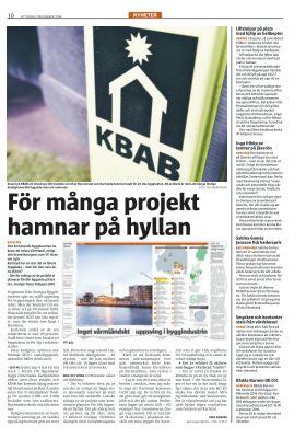 Den kommande byggboomen riskerar att missa Värmland, enligt den branschprognos som VF skrev om i går. Karlstad har en stor del av länets byggkaka - men bör den vara ännu större? - Lite för många av de projekt vi planerar för blir liggande på hyllan, medger Peter Kullgren (KD).