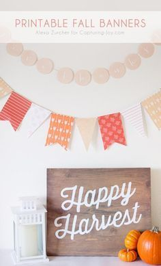 Printable Fall Banner for Thanksgiving decorations