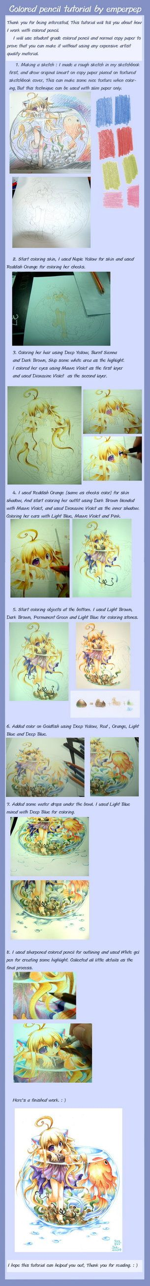 Colored pencil tutorial by *emperpep on deviantART