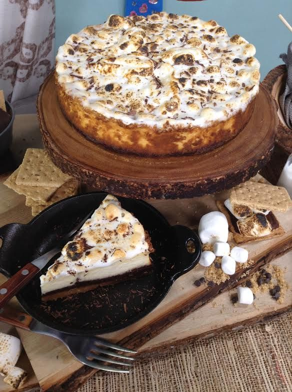 @cristinacooks makes a S'mores Cheesecake with Teddy Grahams from Taste of Home Magazine #homeandfamilytv. Use Gluten Free Ghraham Crackers  Ingredients!!!