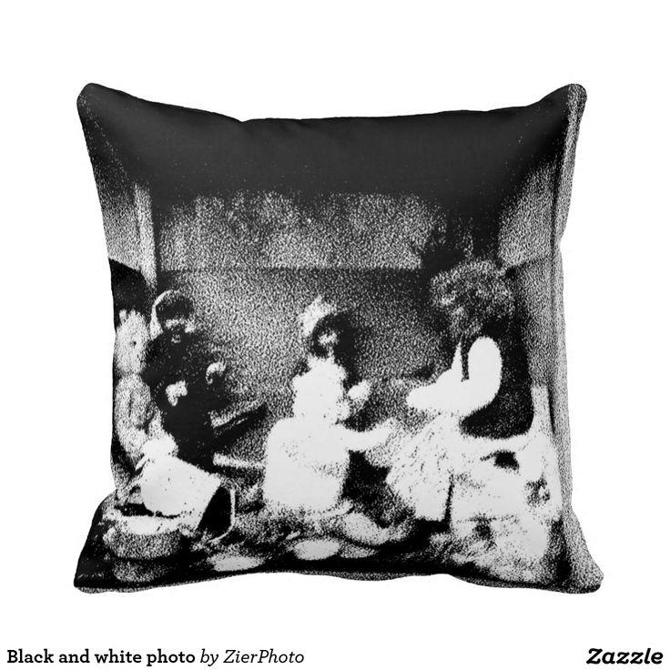 Black and white photo pillows