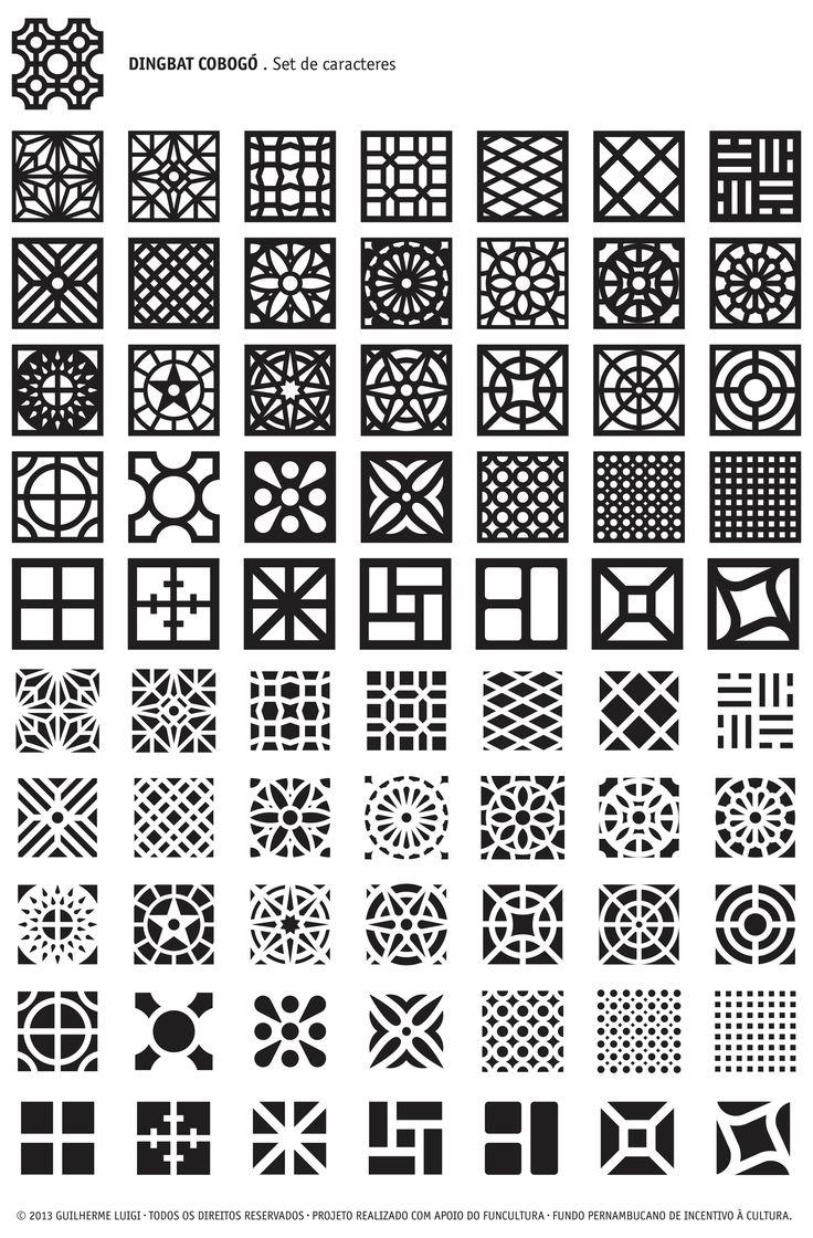 O cobogó é a inspiração para a fonte digital Dingbat Cobogódesenvolvida por Guilherme Luigi. Os símbolos foram criados a partir da pesquisa...