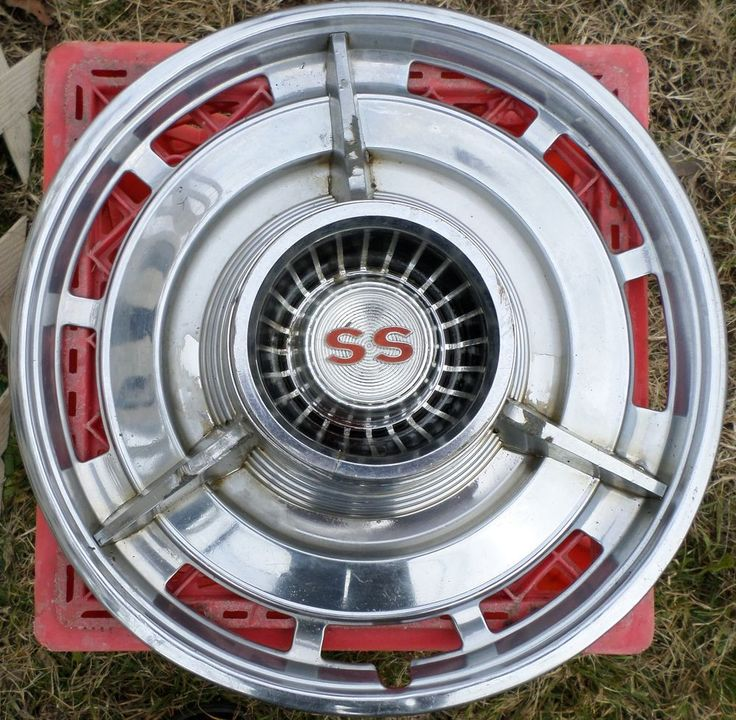 Old Chevy Wheel Grease Caps : Vintage chevy ss oem hub cap set of car hubcaps