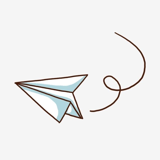 Aircraft Paper Plane Cartoon Airplane Origami Hand Drawn Airplane