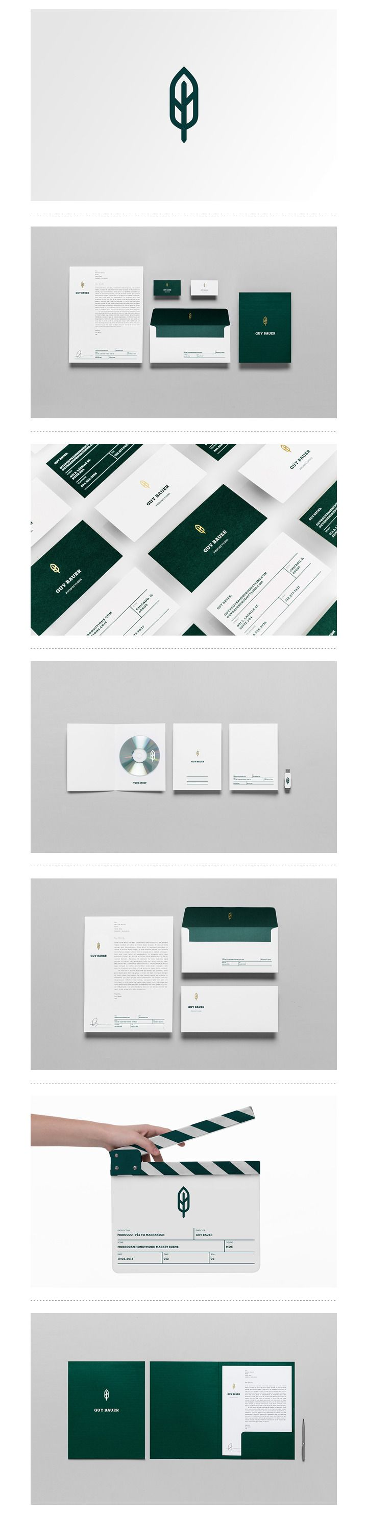 Guy Bauer Productions | #stationary #corporate #design #corporatedesign #logo…