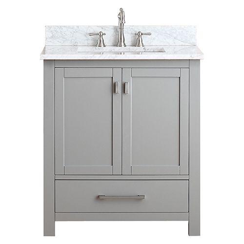 Modero Chilled Gray 30 Inch Vanity Only Vanities Bathroom Vanities Bathroom Furniture