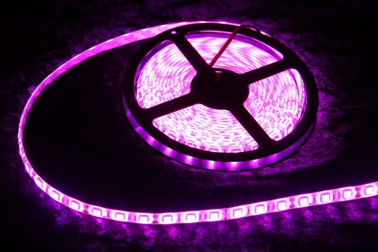 Strip Lighting LED Pink SMD5050 IP65 5M Roll 14.4w/m 60 LEDs/m A$64.85 www.ecoindustrialsupplies.com