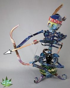 Insane Hand Blown Pipes | Elaborate skeleton piece #glass #weed #pipe