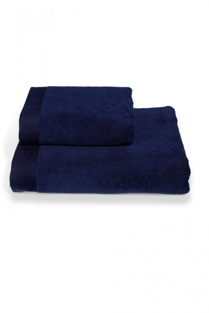Szybkoschnący ciemnoniebieski ręcznik kąpielowy MICRO COTTON