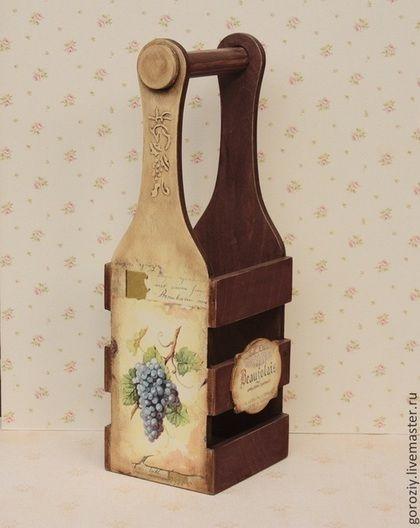 Корзины, коробы ручной работы. Ярмарка Мастеров - ручная работа Короб для вина Отложен. Handmade.