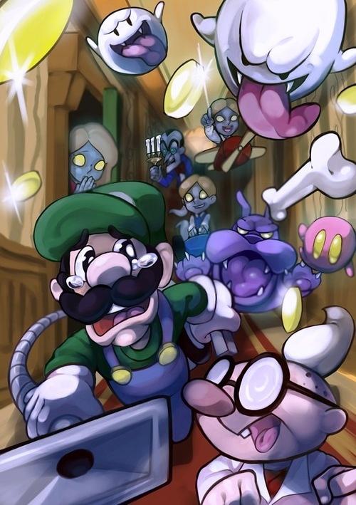 Luigi's mansion, artist unknown