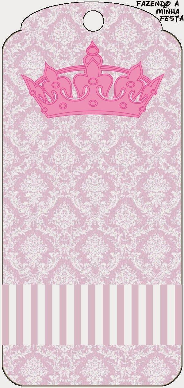 Princesa: Tarjetería e Imprimibles Gratis para Candy Bar.