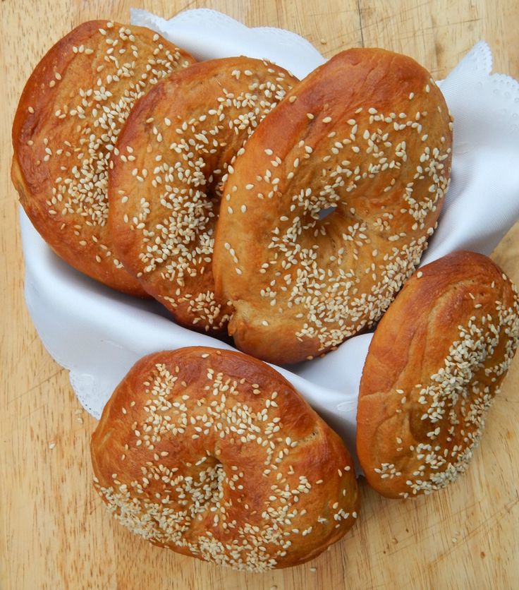 Home Baked Sesame Seed Bagels